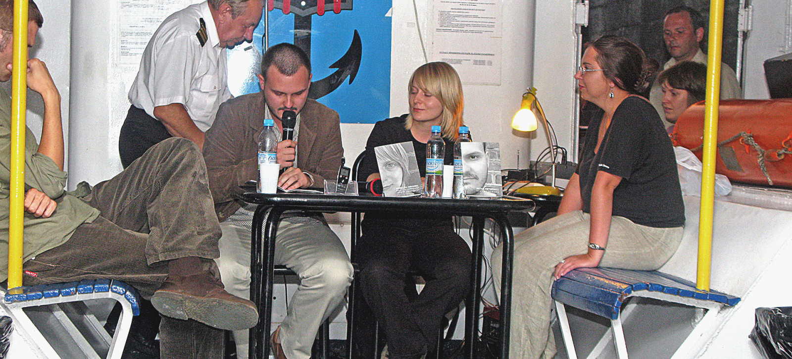 23_ZDJĘCIA__Sławomir ELSNER, Jakub WOJCIECHOWSKI, Bohdan ZADURA __Otwarcie w Porcie Literackim 2008